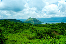 Taal Volcano In In Lake Tall A...