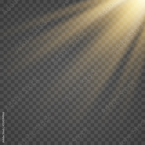 Obraz Vector transparent sunlight special lens flash light effect.front sun lens flash. Vector blur in the light of radiance. - fototapety do salonu
