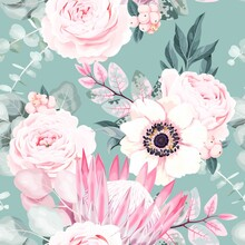 Seamless Vector Pattern With P...