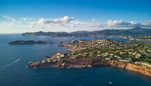 Aerial View Coastline Near Por...