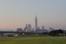 The Cityscape In Taipei City A...