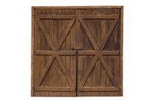 Old Wooden Door From A Barn Is...