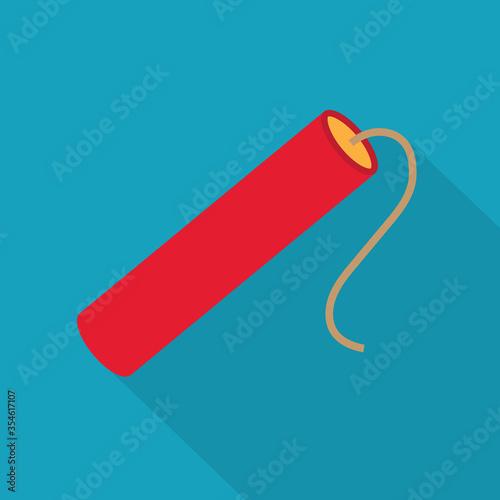 Fotografia dynamite stick with fuse icon- vector illustration