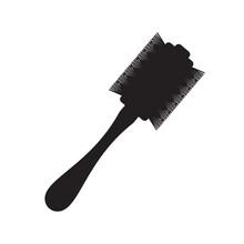 Round Hair Styling Brush Icon- Vector Illustration