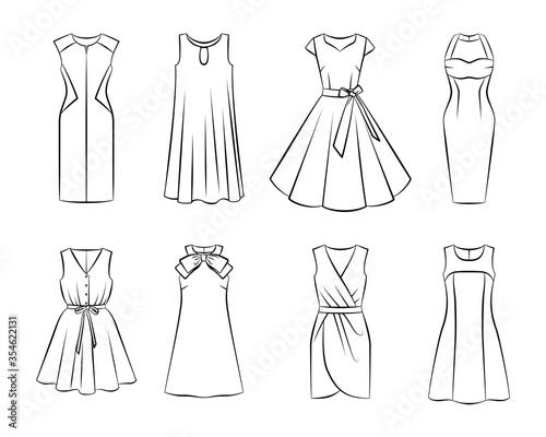 Fotografia Collection of woman fashion dress