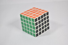 Closeup Of Solved Rubiks Cube ...