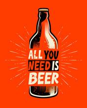 Beer Bottle Retro. Poster For ...
