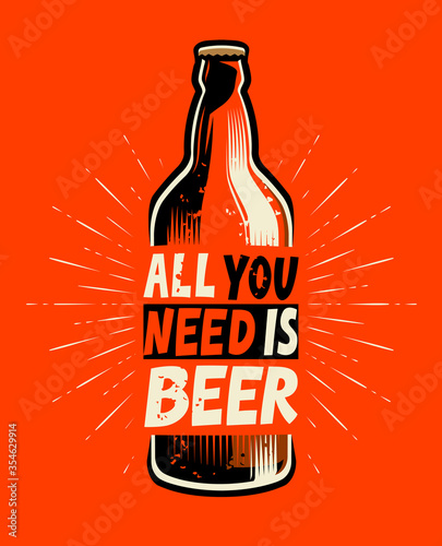Photo Beer bottle retro