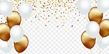 Celebration Banner With Gold C...