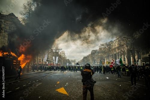 Black lives matters riots usa smoke destruction Fototapet