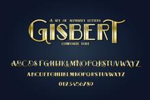 Vector Composite Font. Art Dec...