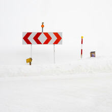 Traffic Sign On The Snow