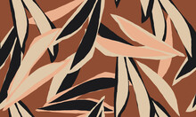 Hand Drawn Abstract Pattern. Creative Collage Contemporary Seamless Pattern. Natural Colors. Fashionable Template For Design.
