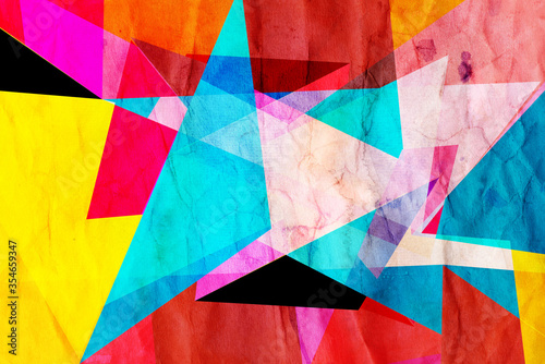 Fototapety, obrazy: Watercolor abstract retro raster color background
