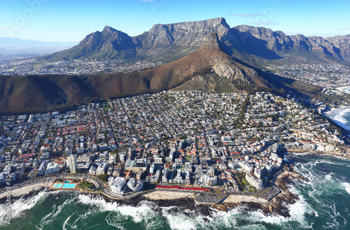 Cape Town, Western Cape / South Africa - 06/07/2019 - Aerial photo of Clifton, B Wallpaper Mural