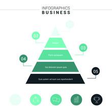Pyramid Infographics. Funnel P...