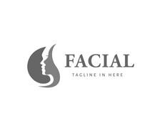 Circle Facial Skincare Logo Fa...
