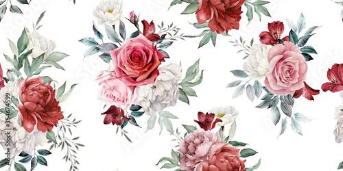 czerwone-retro-kwiaty-jak-wiazanki