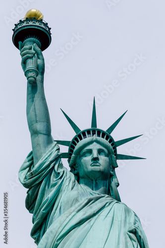 Fotografie, Tablou statue of liberty isolated
