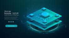 Futuristic Microchip Processor...