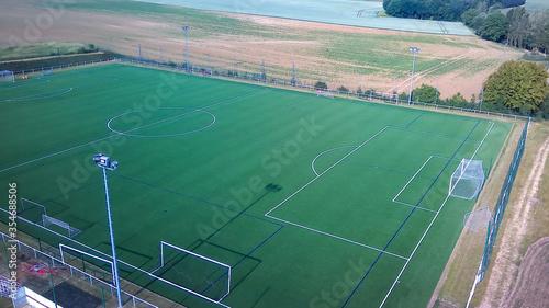 Photo vue aérienne d'un terrain de football