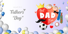 Happy Father's Day Colorful Po...
