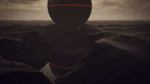 Giant Alien Sphere Black Geome...