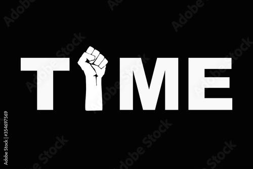 Time stop racism concept Tablou Canvas