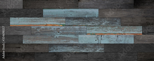 Fototapeta Weathered wooden boards texture for background. obraz