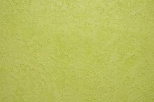 Background With Decorative Plaster Of Mustard Color