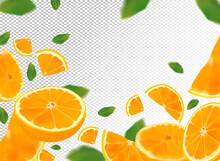 Orange Background. Flying Oran...