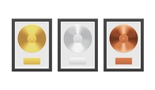 Gold, Silver And Bronze Vinyl ...