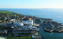 View From The Top Of The Spinnaker Tower In Portsmouth, UK