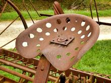 Close Up Of A Rusty Metal Seat...
