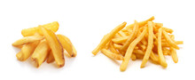 Potato Fry On White Isolated B...