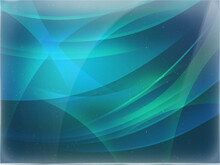 Abstract Green Blue Background With Lines