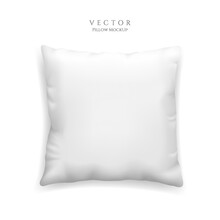 Clean White Pillow Mockup Isol...