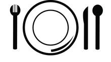 Dish, Fork, Knife Line Icon, O...