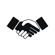 Handshake Of A Black And White...