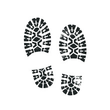 Bootprints Isolated On White. ...