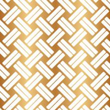 Gold Weave Seamless Pattern. G...