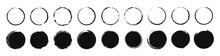 Set Of 30 Hand Drawn Circle. Drawning Circle. Scribble Doodle. Brush Circle. Vector Illustration.