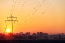 Horizontal Shot Of Electricity...