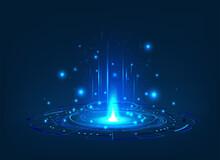 Futuristic Or Magic Portal Wit...