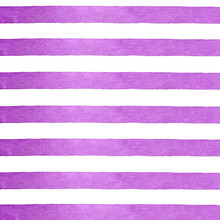 Pink Striped Background, Purple Stripes, Watercolor