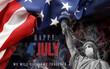 Leinwandbild Motiv image background happy 4th of july day of independence of united states