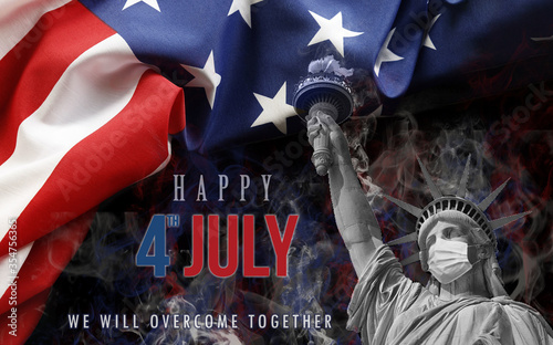 Obraz image background happy 4th of july day of independence of united states - fototapety do salonu
