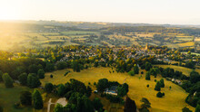 Aerial View Over The Village A...