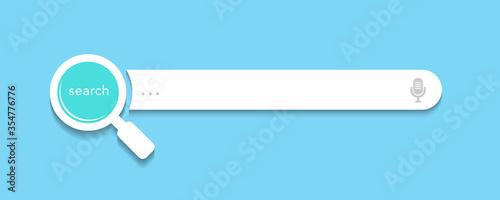 Search bar design for website or webpage user interface (UI) elements Fototapeta