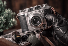 Vintage Camera In Photographer...
